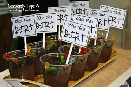 Over The Hill Party Ideas Completely Type A