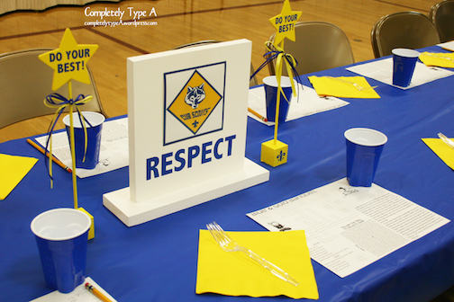 Cub Scout Blue And Gold Dinner Decorations Completely Type A